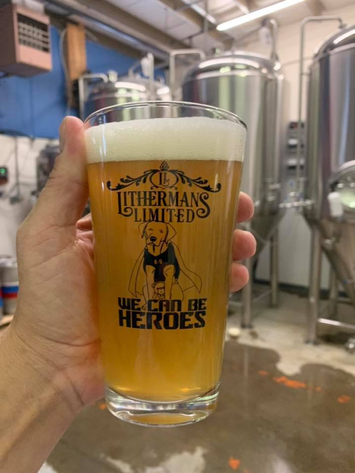 Lithermans Heroes Pint Glass